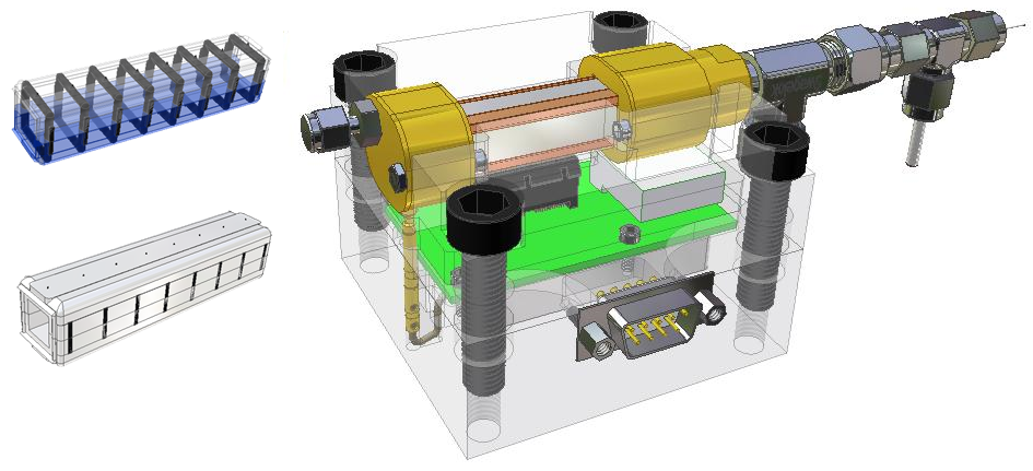 Mini drift tube test assembly
